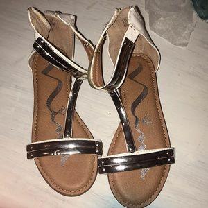 Nina girls sandals white and silver gladiator 13M
